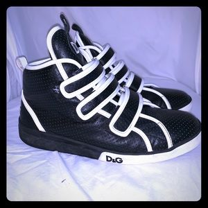 Men's Dolce and Gabbana Triple Velcro High Tops